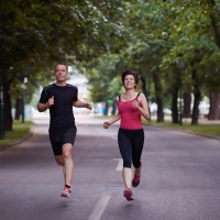 Graphic Stock - couple running